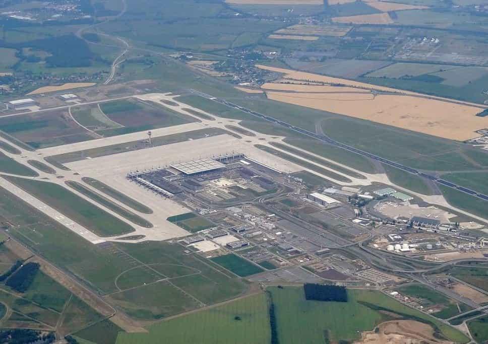 Výstavba letiště BER v roce 2012.