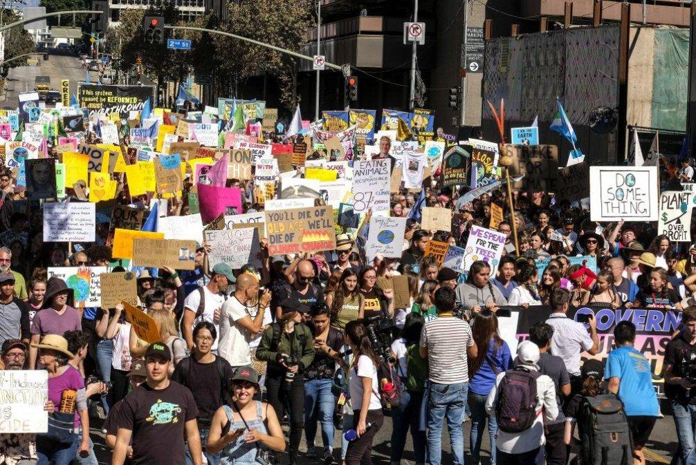 Klimatická stávka, ilustrační foto