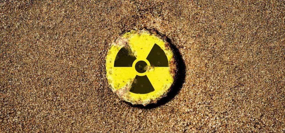 Znak radioaktivity, ilustrační foto