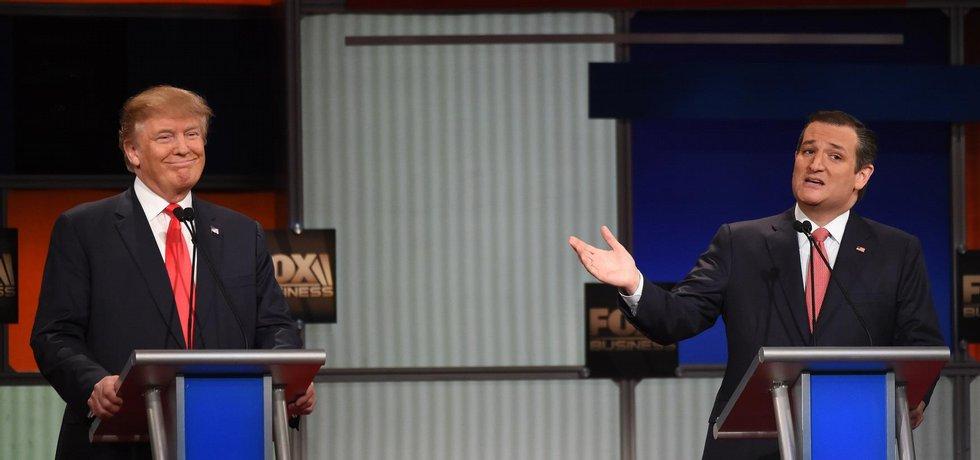 Donald Trump a Ted Cruz