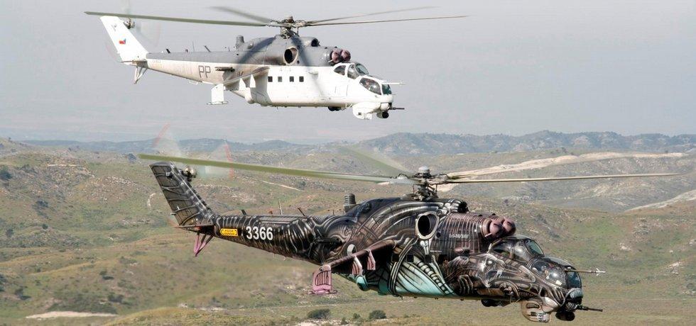 Helikoptéra MI-24 české armády na setkání tygřích letek NATO