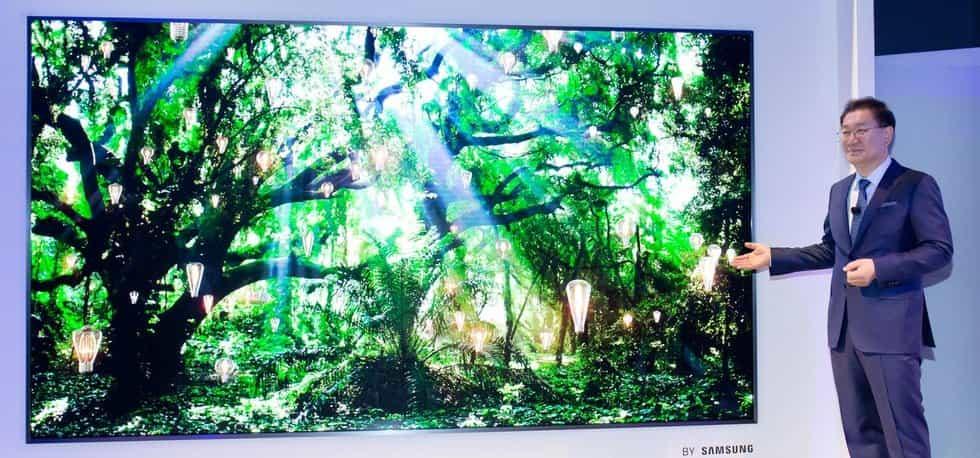 Televize Samsung The Wall s technologií MicroLed