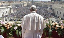 Papež František při velikonočním poselství