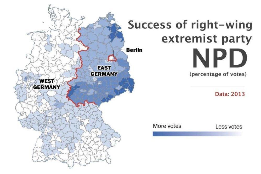 Volební výsledky NPD v roce 2013