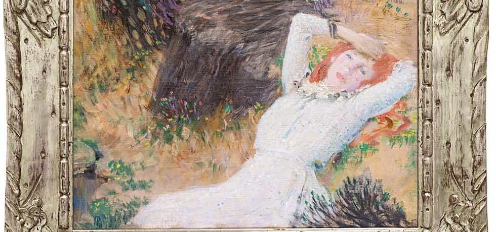 Studie k obrazu Jana Preislera Tři dívky v lese, vydražena za 6,5 milionu korun.