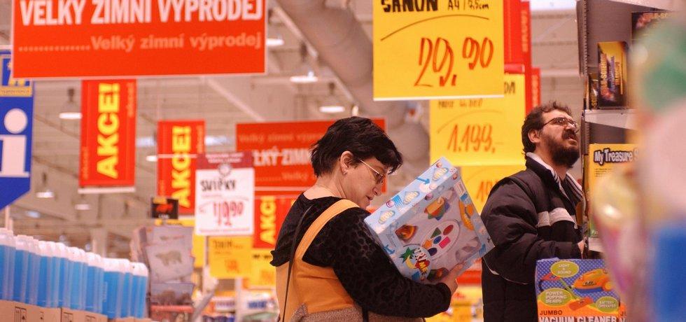 Výprodej v supermarketu
