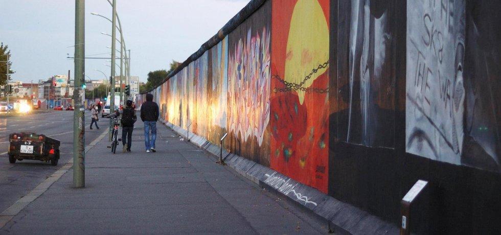 East Side Gallery, největší neporušená část Berlínské zdi