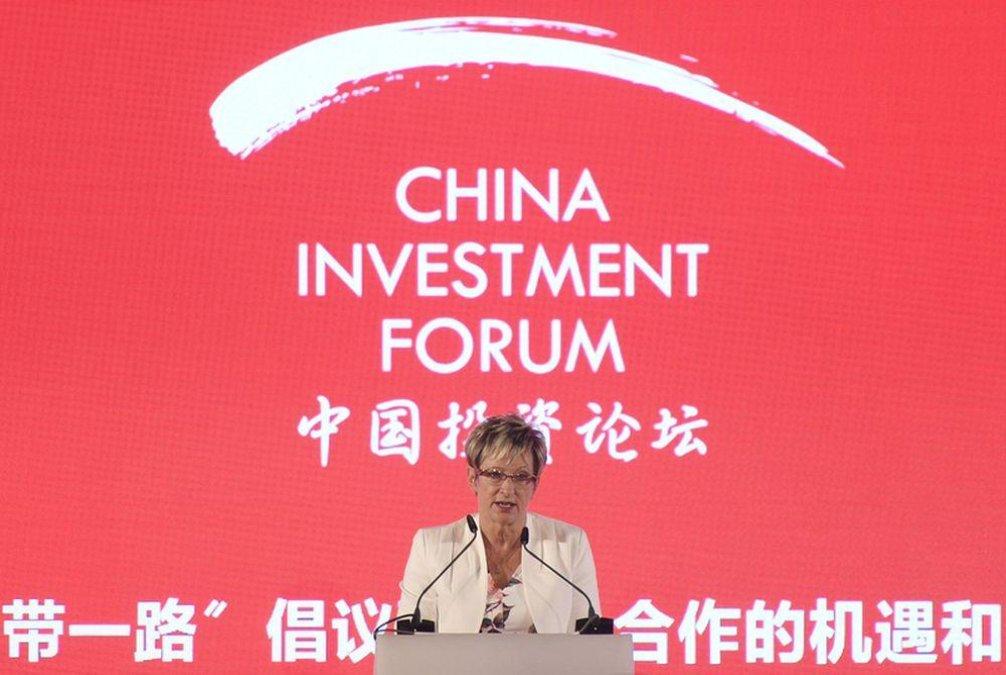 Ministryně průmyslu a obchodu Marta Nováková vystoupila na česko-čínském investičním fóru na Pražském hradě