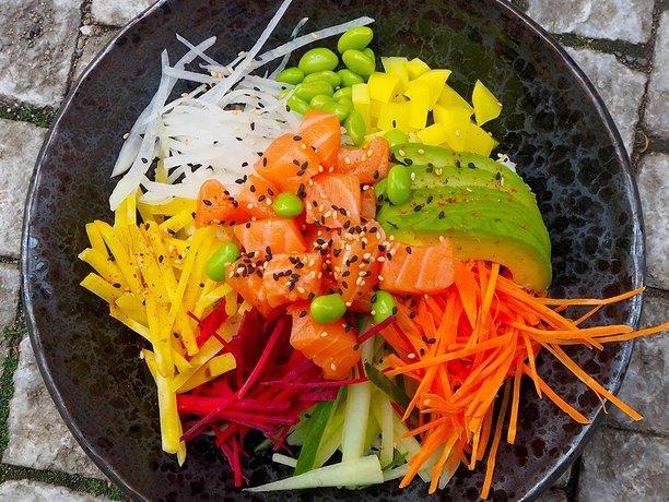 Salmon Poke - Café Buddha