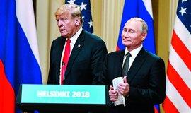 Americký prezident Donald Trump se svým ruským protějškem