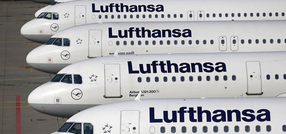 letouny aerolinek Lufthansa