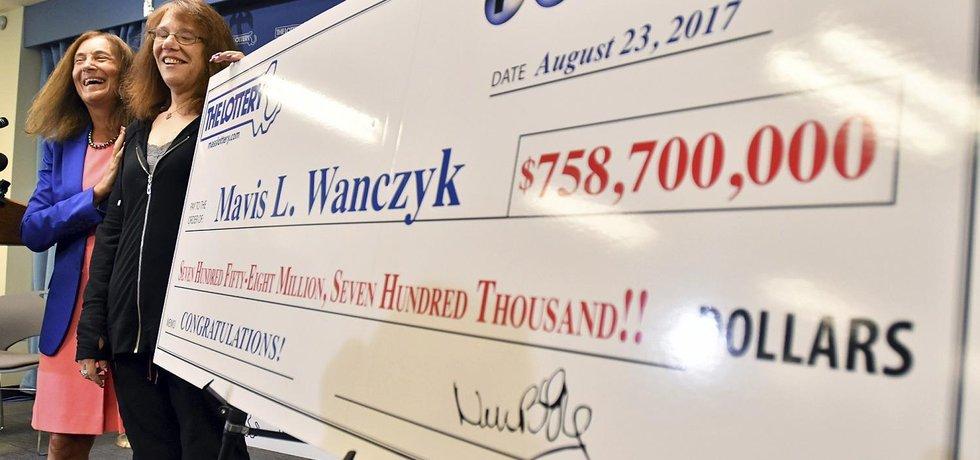 Vítězka v loterii Powerball Mavis Wanczyková