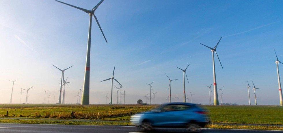 Větrný park v Dolním Sasku, ilustrační foto