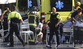 Záchranáři a policie po útoku na bulváru La Rambla, ilustrační foto