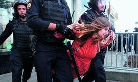 Protesty v Rusku, ilustrační foto