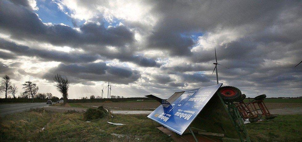 Následky bouře Friederike, ilustrační foto