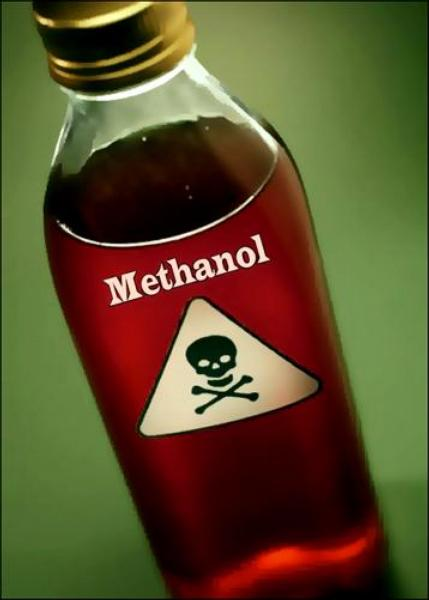 methanol, metylalkohol, jed, otrava