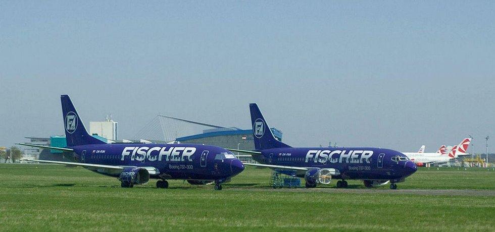 Boeingy Fischer Air během své nucené odstávky na pražském letišti