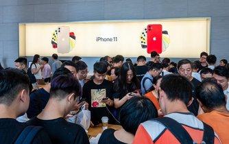 Prodejna firmy Apple v Číně, ilustrační foto