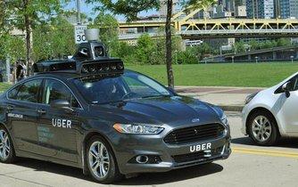 samořiditelný vůz Uberu