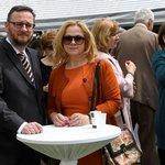Bývalý premiér Petr Nečas s manželkou Janou na recepci u příležitosti oslav výročí konce druhé světové války, která se konala 9. května 2019 na ruském velvyslanectví v Praze.