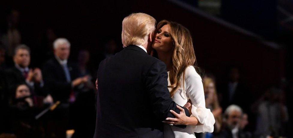 Donald Trump a jeho žena Melania