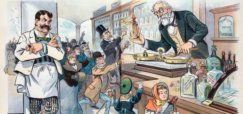 Prodej léků - ilustrace
