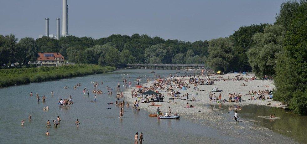 Řeka Isar v Mnichově, ilustrační foto