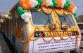 Premiéra solárního vlaku v Indii.