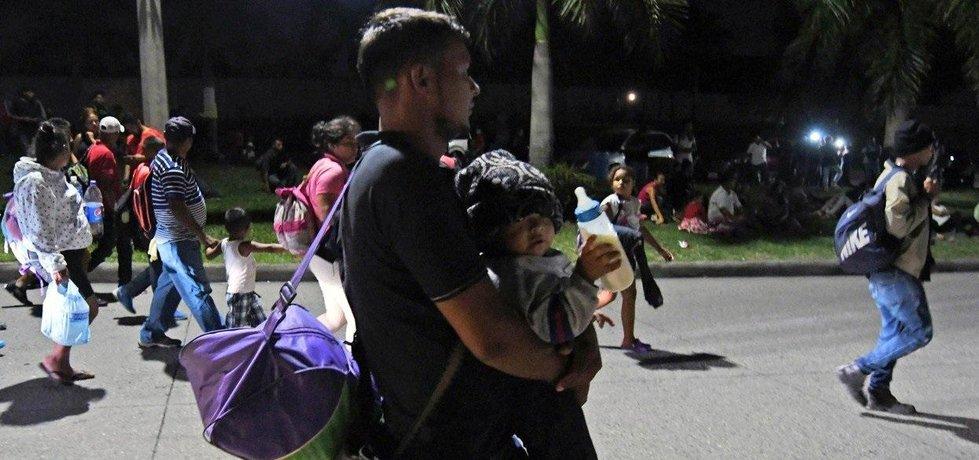 Migranti z Hondurasu, ilustrační foto