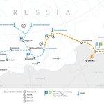 Trasy plynovodů na východě Ruska