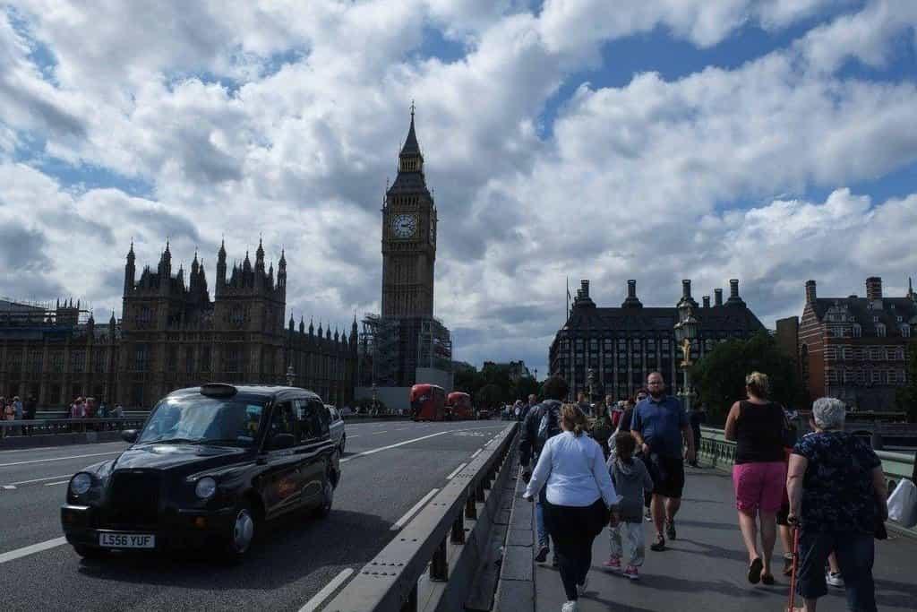 Bezpečnostní zátarasy v Londýně