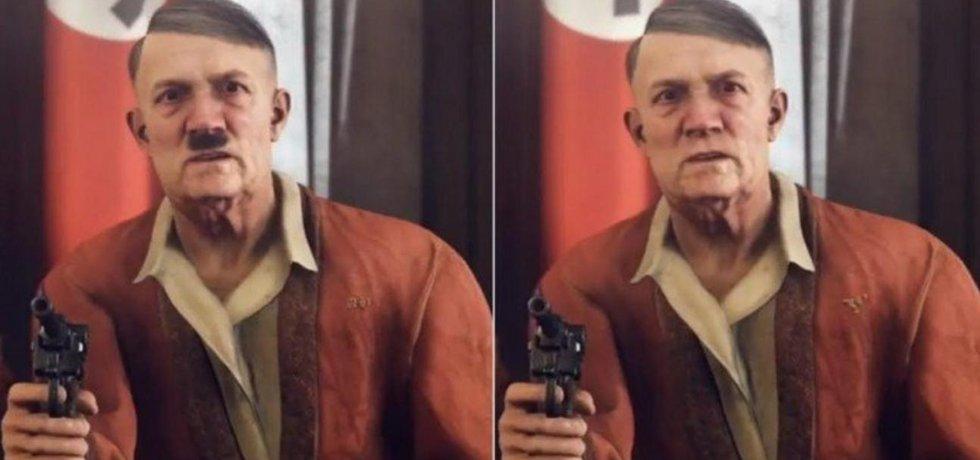 Hitler s knírkem i bez knírku pro německý trh.