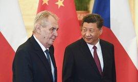 Český prezident Miloš Zeman a jeho čínský protějšek Si Ťin-pching