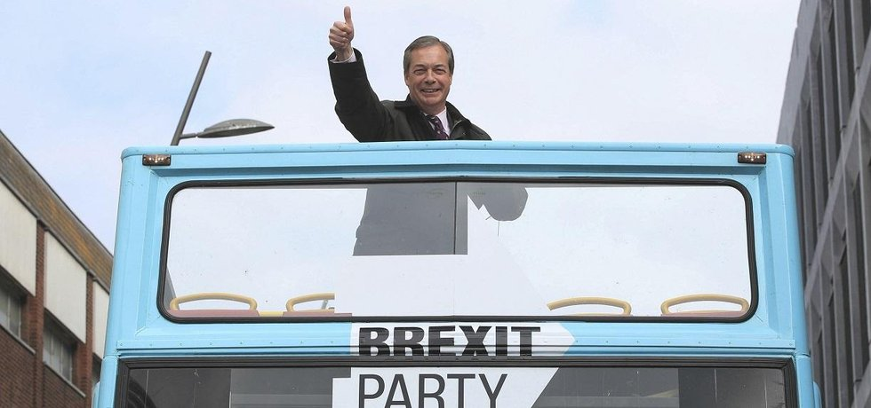 Nigel Farage, šéf Brexit Party
