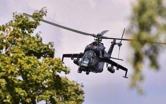 Bitevní vrtulník Mil Mi-24/35 české armády - ilustrační foto