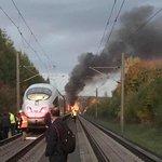 Požár vlaku ICE 3 na vysokorychlostní trati mezi Kolínem nad Rýnem a Frankfurtem nad Mohanem.