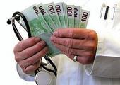lékař, peníze, stetoskop, zdravotnictví