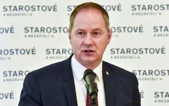 Předseda hnutí Starostové a nezávislí (STAN) Petr Gazdík