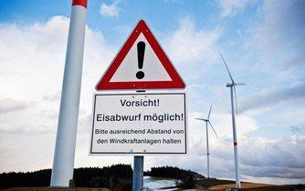 Větrné turbíny v Bavorsku, ilustrační foto