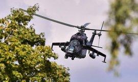 Nehoda na cvičení. České armádě spadl další vrtulník Mi-24