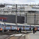 Na hlavním nádraží v Brně se srazily na jedné koleji dva vlaky