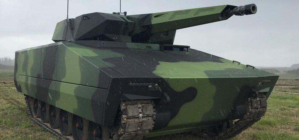 Pásové bojové vozidlo pěchoty Lynx KF41, s nímž chce německý Rheinmetall uspět v tendru české armády.