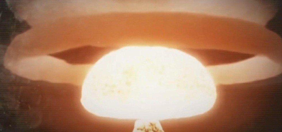 Exploze jaderné bomby, ilustrační animace