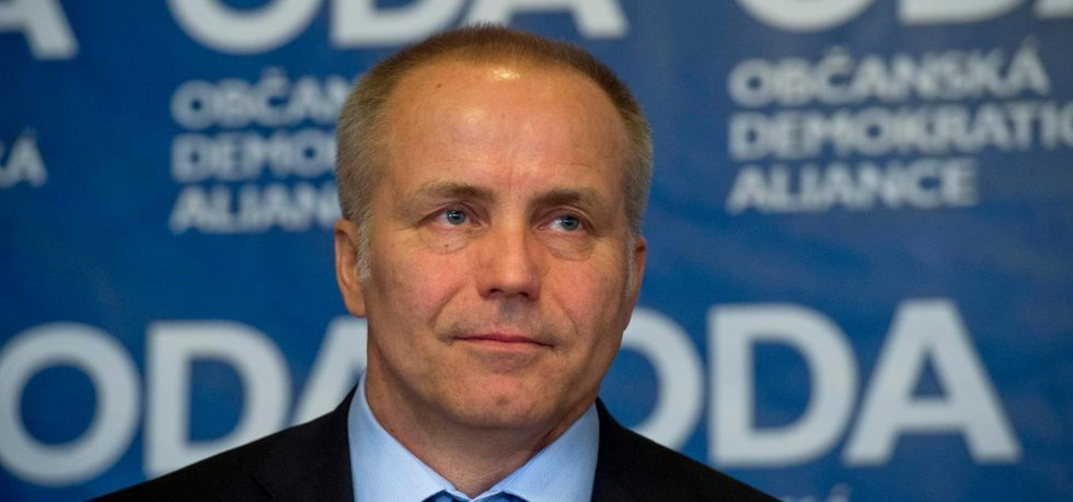 Předseda Občanské demokratické aliance (ODA) Pavel Sehnal