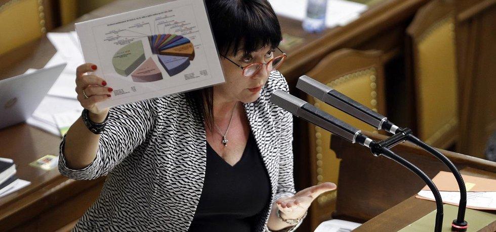 Navrch huj. Ministryně financí Alena Schillerová chválí skvělý výběr daní. Že ale místo plánovaných 82,5 miliardy korun příjmů z programů EU přiteklo zhruba 119,4 miliardy, tím už se nechlubí.