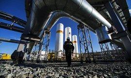 Přečerpávací stanice u ruského plynového pole Charampur