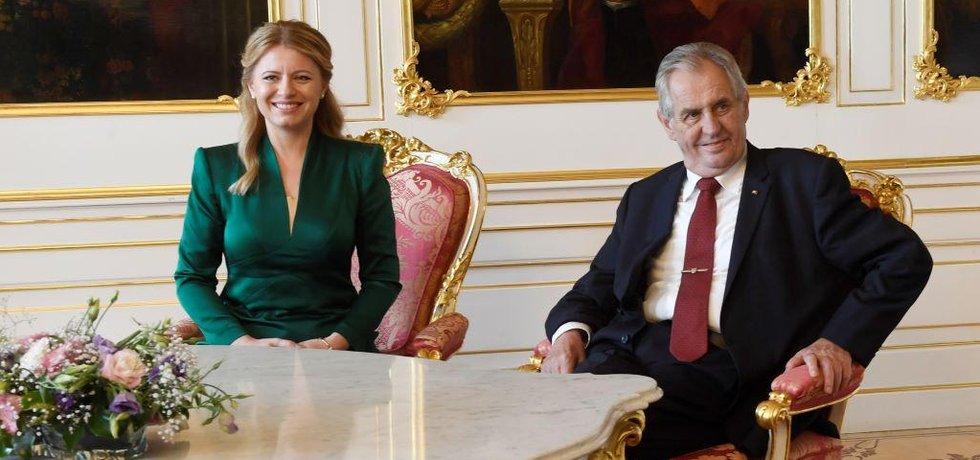Zuzana Čaputová a Miloš Zeman