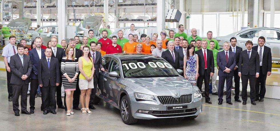 Škoda Superb 3. generace s pořadovým číslem 100 000