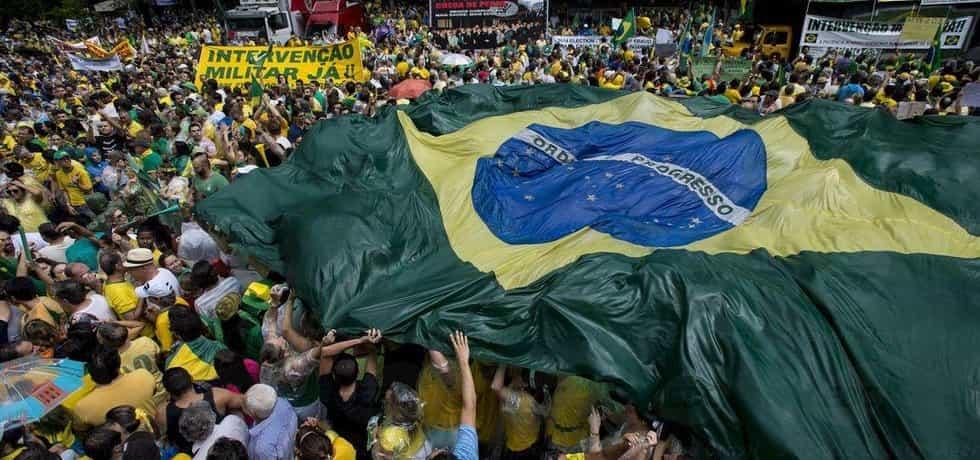 Protesty v Brazílii - ilustrační foto